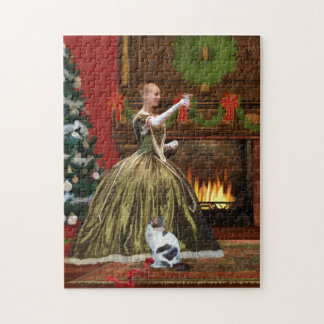 Christmas, Vintage Home, Holiday Toast Jigsaw Puzzle