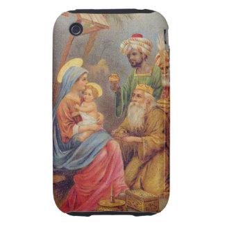 Christmas Vintage Nativity Jesus Illustration Tough iPhone 3 Cover