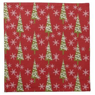 Christmas vintage pattern cloth napkins