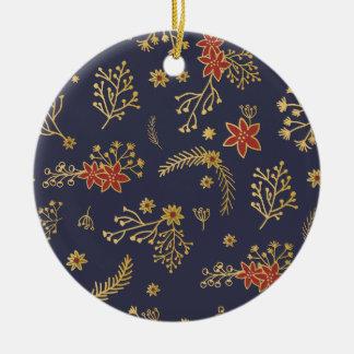 Christmas Vintage pattern - Xmas gifts Ceramic Ornament
