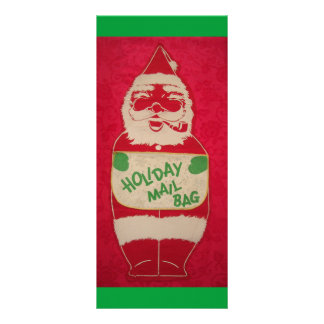 Christmas Vintage Santa Claus Rack Card