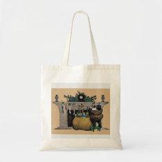 Christmas Vintage Santa Crafts & Shopping Bag at Zazzle
