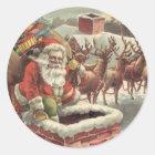 Christmas Vintage Santa Reindeer Stickers