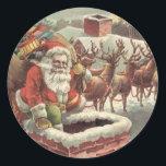 "Christmas Vintage Santa Reindeer Stickers<br><div class=""desc"">Christmas Vintage Santa Reindeer Stickers</div>"