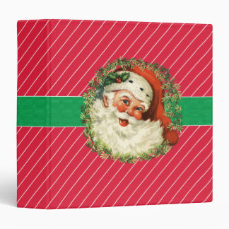Christmas Vintage Santa Wreath Recipe Photo Binder