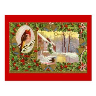 Christmas Vintage Scene Postcard