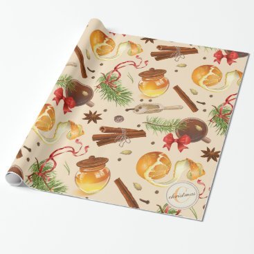 Christmas Themed Christmas Vintage Scents Wrapping Paper