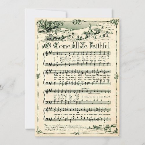 Christmas, Vintage Sheet Music, Custom