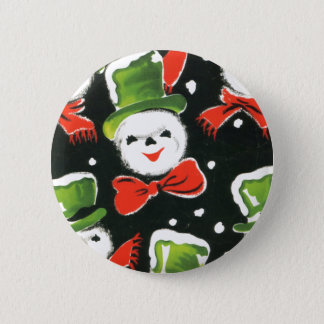 Christmas Vintage Snowman Button
