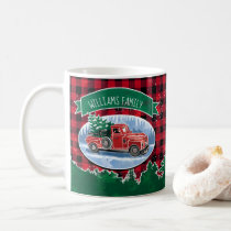 Christmas Vintage Truck Add Name Coffee Mug