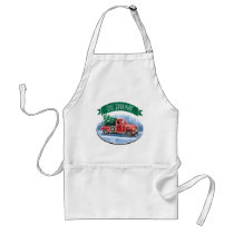 Christmas Vintage Truck with Tree Monogrammed Adult Apron