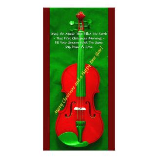 Christmas Violin Photo Card