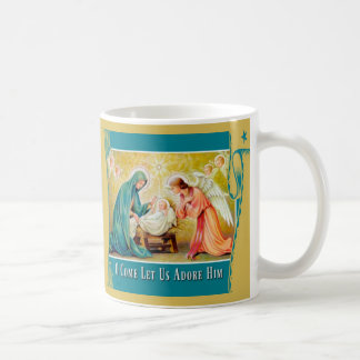 Christmas Virgin Mary Child Jesus Angel Nativity Coffee Mug
