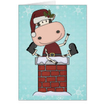 Christmas Visitor - Cow Card