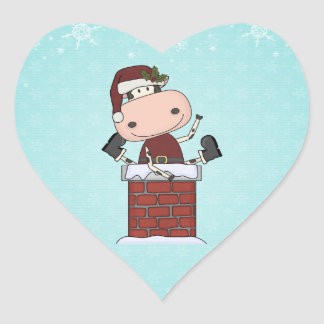 Christmas Visitor - Cow Heart Sticker