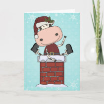 Christmas Visitor - Cow Holiday Card