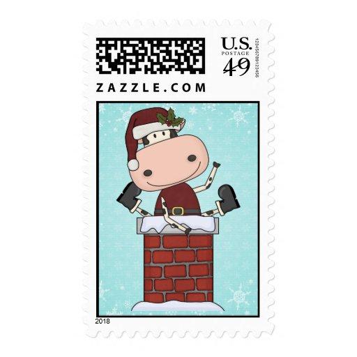 Christmas Visitor - Cow Postage