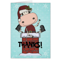 Christmas Visitor - Cow Thank You Card