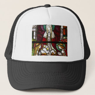 Christmas Vitrage Mother Mary and Jesus Trucker Hat