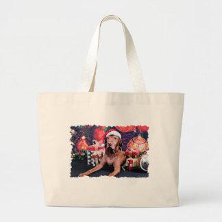 Christmas - Vizsla - Budda Canvas Bag