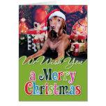 Christmas - Vizsla - Budda Greeting Card