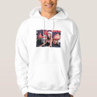 Christmas - Vizsla - Budda Hooded Pullover