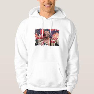 Christmas - Vizsla - Budda Hooded Sweatshirts