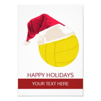 Christmas volleyball Ball Santa Hat Greeting Cards