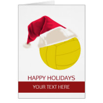 Christmas volleyball Ball Santa Hat Greeting Cards