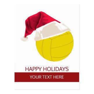 Christmas volleyball Ball Santa Hat postCards