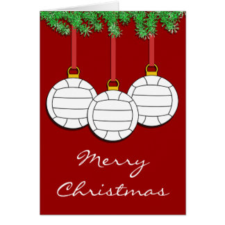 Christmas Volleyball Card