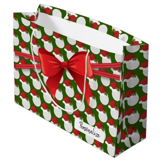 christmas volleyball pattern large large gift bag