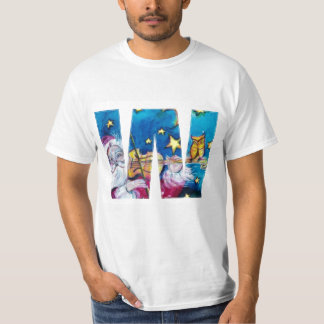 CHRISTMAS W LETTER / INSPIRED SANTA MONOGRAM T-Shirt