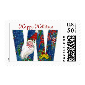CHRISTMAS W LETTER / SANTA CLAUS WITH RED RIBBON POSTAGE