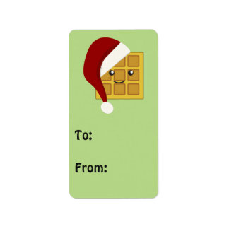 Christmas Waffle Label