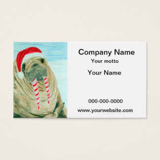 Christmas Walrus Business Card