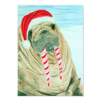 Christmas Walrus Card