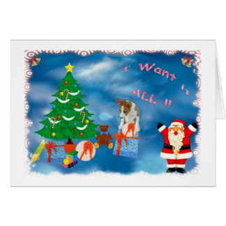 christmas want all card
