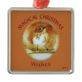 Christmas Warbler 2019 Metal Ornament