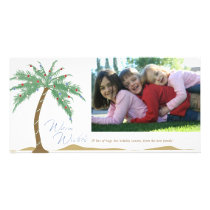 Christmas Warm Wishes, Palm Tree Beach Card
