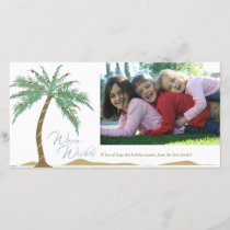 Christmas Warm Wishes, Palm Tree Beach Holiday Card