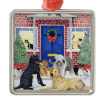 Christmas Warmth Metal Ornament