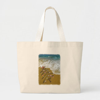 Christmas Washed Up on Shore Canvas Bags