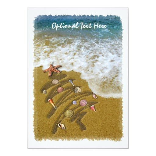 Christmas Washed Up on Shore Custom Invitations