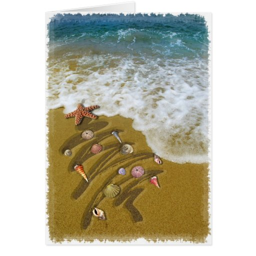Christmas Washed Up on Shore Greeting Card