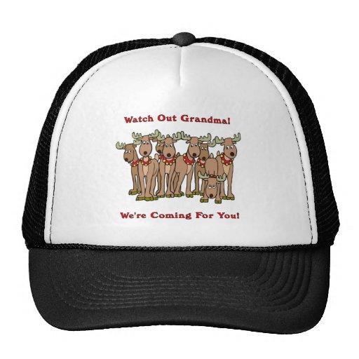 Christmas: Watch Out Grandma Mesh Hat