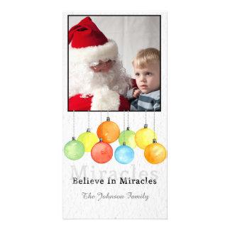 Christmas watercolor balls Photo Card