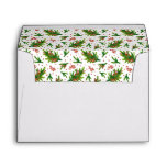 Christmas Watercolor Branches & Berries Pattern Envelope