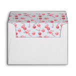 Christmas Watercolor Candy Cane Pattern Envelope