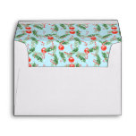 Christmas Watercolor Candy & Pines Pattern Envelope